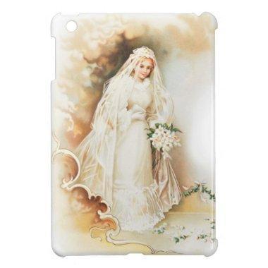 Vintage bride and wedding dress iPad mini case