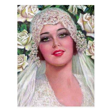 Vintage Bride with Roses Post