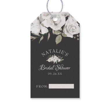 Vintage Cherish White Floral Bridal Display Shower Gift Tags