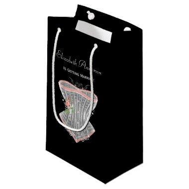 Vintage Corset Personal Lingerie  Small Gift Bag