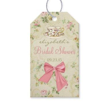 Vintage Floral and Teacup  Gift Tags
