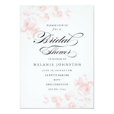 Vintage floral | Bridal Shower Invitations