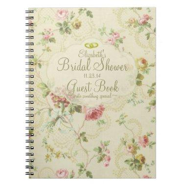 Vintage Floral Romantic  Guest Book- Notebook