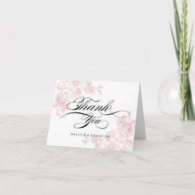 Vintage floral | Thank you note