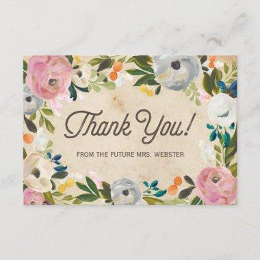 Vintage Florals |  Flat Thank You