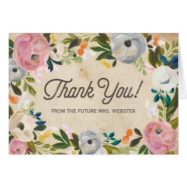 Vintage Florals |  Thank You