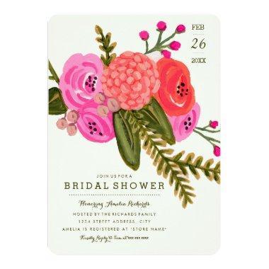 Vintage Garden Bridal Shower Invitations