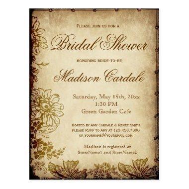 Vintage Garden  Invite POST