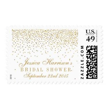 Vintage Glam Gold Confetti  Postage