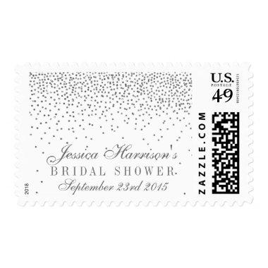Vintage Glam Silver Confetti  Postage