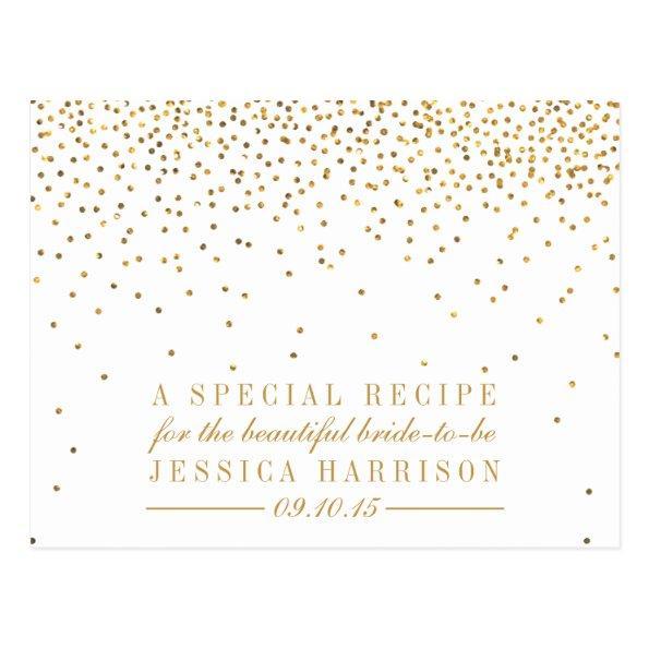 Vintage Gold Confetti  Recipe  Post