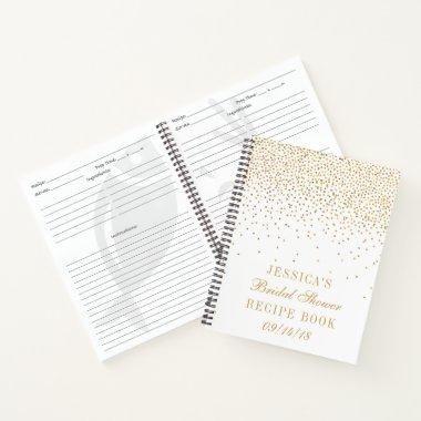 Vintage Gold Confetti  Recipe Notebook