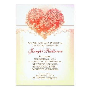 vintage heart blooms creative  invite
