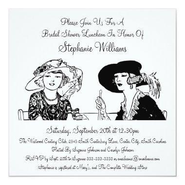 Vintage Ladies with Hats Elegant