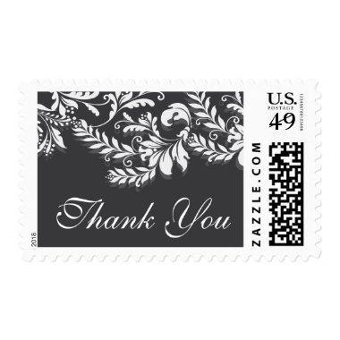 Vintage Leaf Damask  Postage Stamp