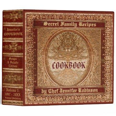 Vintage Look Cookbook 3 Ring Binder