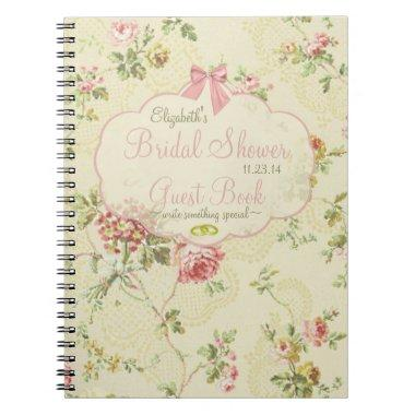 Vintage Looking Floral  Guest Book- Notebook