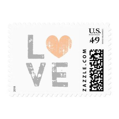 Vintage love heart wedding postage stamps