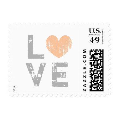 Vintage love heart wedding postage stamps