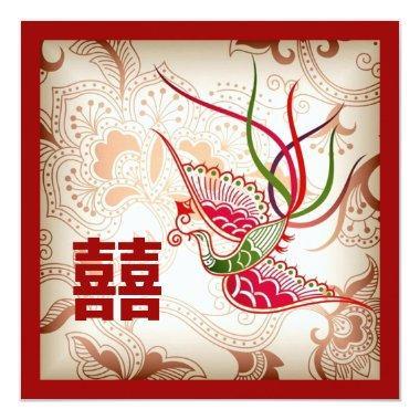 Vintage Red Phoenix Chinese Wedding