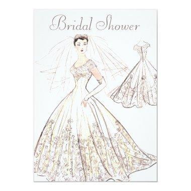 Vintage Retro 1950's Bride and Gown