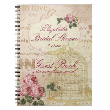 Vintage Romantic Love  Guest Book |