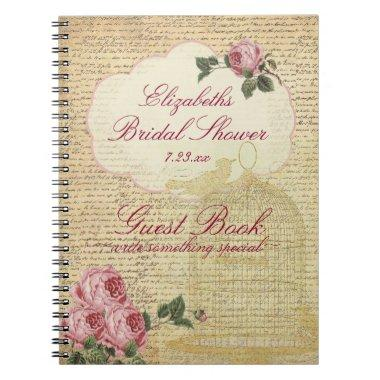 Vintage Romantic Roses  Guest Book |