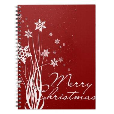 vintage Santa snowman Christmas winter holiday art Notebook