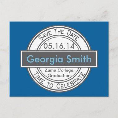 Vintage Style Sign Save The Date Graduation Announcement PostInvitations