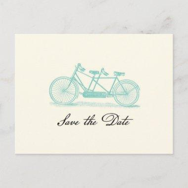 Vintage Tandem Bike Save the Date PostInvitations