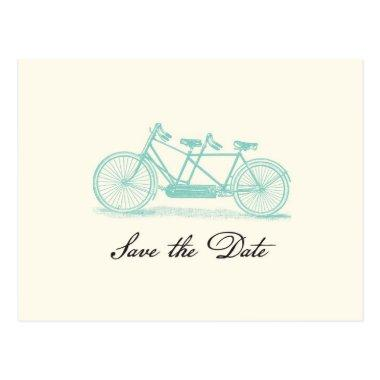 Vintage Tandem Bike Save the Date Post