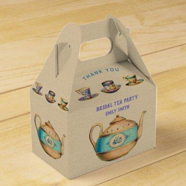 Vintage TEA PARTY Gable Box Personalized