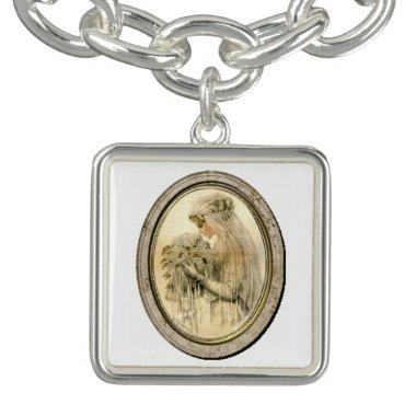 Vintage Victorian Bride / Wedding Charm Bracelet