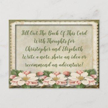 Vintage Wedding  Advice Well WIshes Invitation Post