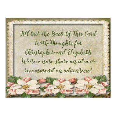 Vintage Wedding  Advice Well WIshes Post