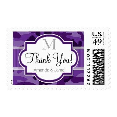 Violet Purple Camo, Camouflage Wedding Postage