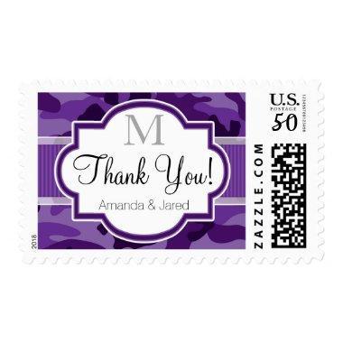 Violet Purple Camo, Camouflage Wedding Postage