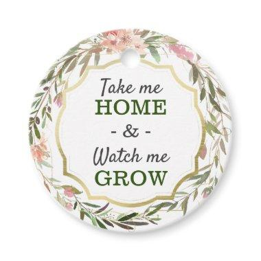 Watch Me Grow Baby Shower Sprinkle Cacti Seed Pot Favor Tags