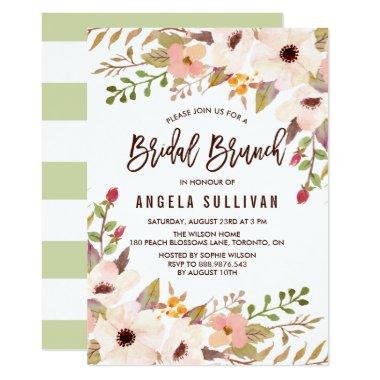 Watercolor Bohemian Flowers Bridal Brunch