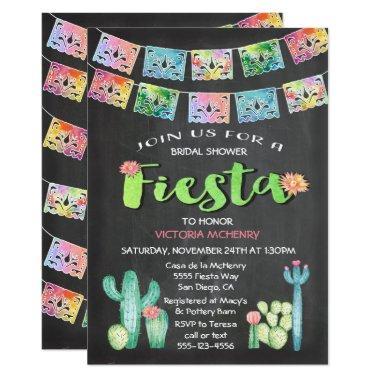 Watercolor Cactus  Mexican Fiesta