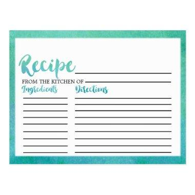 Watercolor Calligraphy  Recipe