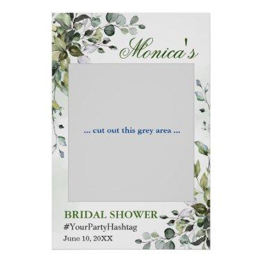 Watercolor Eucalyptus Bridal Shower Photo Prop Poster