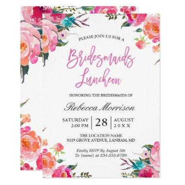 Watercolor Floral Botanical Bridesmaids Luncheon