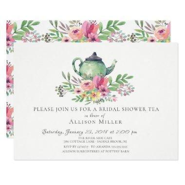 Watercolor Floral Bridal Tea Party