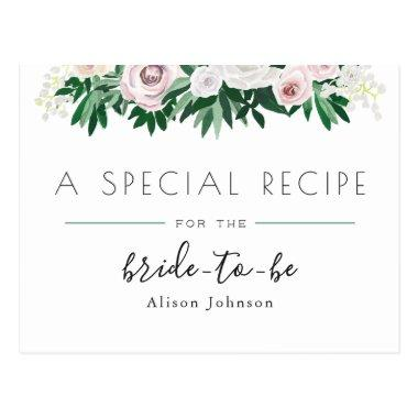Watercolor Floral White Green  Recipe Post