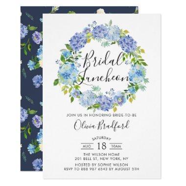 Watercolor Hydrangeas Wreath Bridal Luncheon