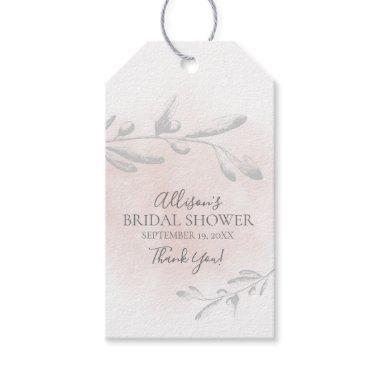 Watercolor leaf  Favor Gift Tag