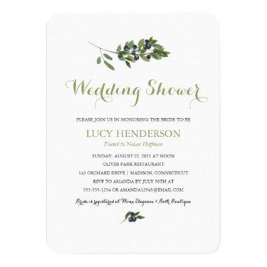 Watercolor Olive Orchard   Wedding Shower Invitations