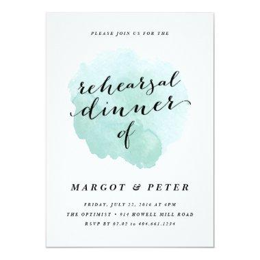 Watercolor spotlight | Rehearsal Dinner