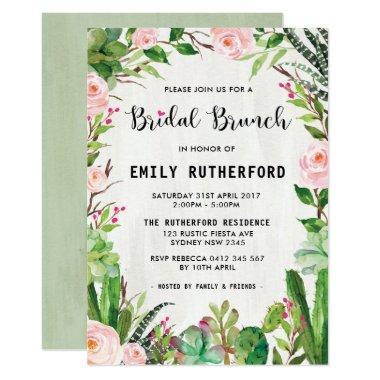 Watercolor Succulent Boho Bridal Brunch